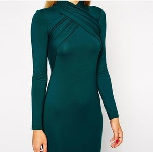 ASOS twist neck dress